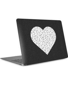 Grey Leopard Heart Apple MacBook Air Skin