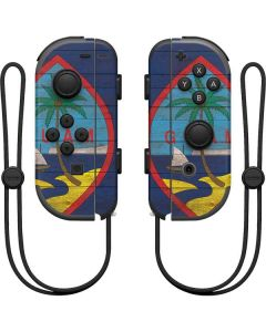 Guam Flag Dark Wood Nintendo Joy-Con (L/R) Controller Skin