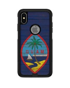 Guam Flag Dark Wood Otterbox Commuter iPhone Skin