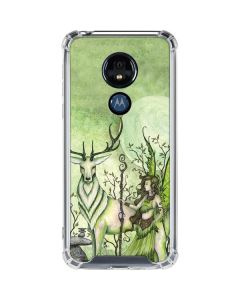 Guardian Fairy and Stag Moto G7 Power Clear Case