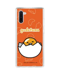 Gudetama Shell Pattern Galaxy Note 10 Clear Case