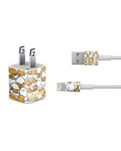 Gudetama Blast Pattern iPhone Charger (5W USB) Skin