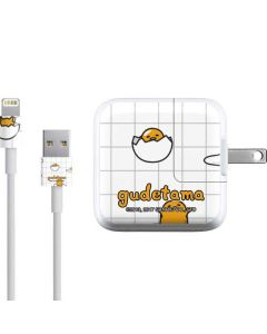 Gudetama Grid Pattern iPad Charger (10W USB) Skin