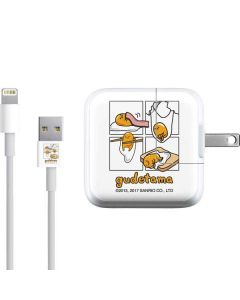 Gudetama Square Grid iPad Charger (10W USB) Skin