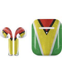 Guyana Flag Distressed Apple AirPods 2 Skin