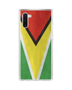 Guyana Flag Distressed Galaxy Note 10 Clear Case