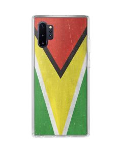 Guyana Flag Distressed Galaxy Note 10 Plus Clear Case