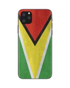 Guyana Flag Distressed iPhone 11 Pro Max Skin