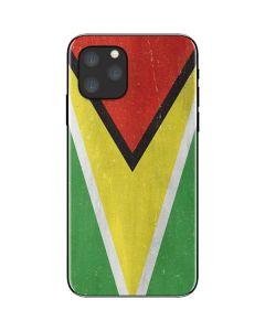 Guyana Flag Distressed iPhone 11 Pro Skin