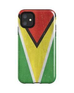 Guyana Flag Distressed iPhone 11 Impact Case
