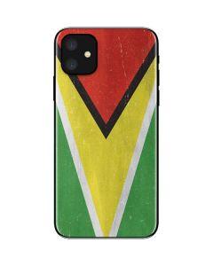 Guyana Flag Distressed iPhone 11 Skin