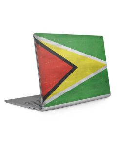 Guyana Flag Distressed Surface Book 2 15in Skin