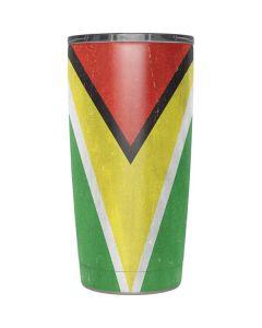 Guyana Flag Distressed Yeti 20oz Tumbler Skin