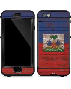 Haiti Flag Dark Wood LifeProof Nuud iPhone Skin