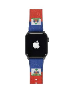 Haitian Flag Distressed Apple Watch Case