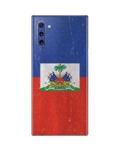 Haitian Flag Distressed Galaxy Note 10 Skin