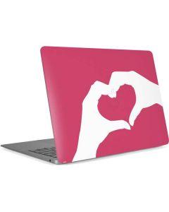Hand Shaped Heart Apple MacBook Air Skin