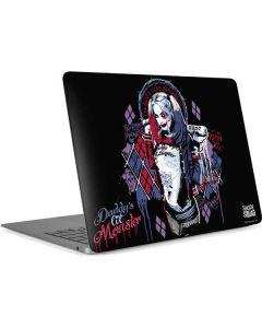 Harley Quinn Daddys Little Monster Apple MacBook Air Skin