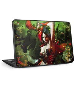 Harley Quinn Fighting HP Chromebook Skin