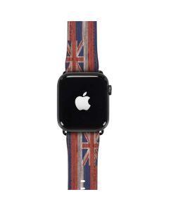 Hawaiian Flag Dark Wood Apple Watch Band 42-44mm