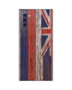Hawaiian Flag Dark Wood Galaxy Note 10 Skin