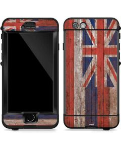 Hawaiian Flag Dark Wood LifeProof Nuud iPhone Skin