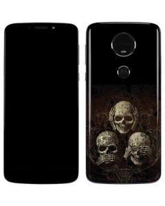 Hear Speak and See No evil Moto E5 Plus Skin