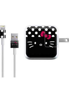 Hello Kitty Black iPad Charger (10W USB) Skin