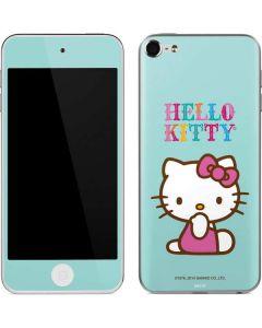 Hello Kitty Blue Background Apple iPod Skin