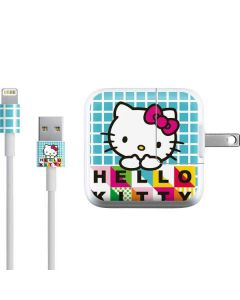 Hello Kitty Blue Pattern iPad Charger (10W USB) Skin