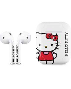 Hello Kitty Classic White Apple AirPods 2 Skin