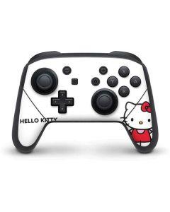 Hello Kitty Classic White Nintendo Switch Pro Controller Skin