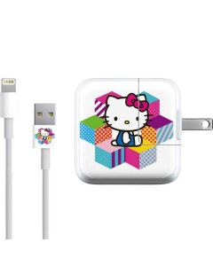 Hello Kitty Color Blocks iPad Charger (10W USB) Skin