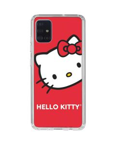 Hello Kitty Cropped Face Red Galaxy A51 Clear Case