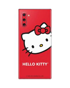 Hello Kitty Cropped Face Red Galaxy Note 10 Skin