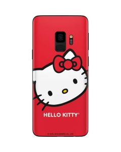 Hello Kitty Cropped Face Red Galaxy S9 Skin