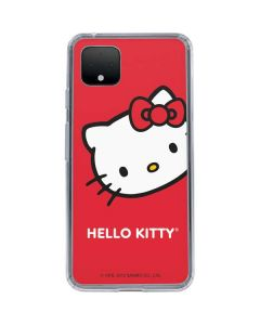 Hello Kitty Cropped Face Red Google Pixel 4 Clear Case