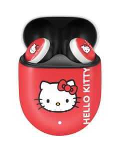 Hello Kitty Cropped Face Red Google Pixel Buds Skin