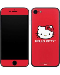 Hello Kitty Cropped Face Red iPhone SE Skin