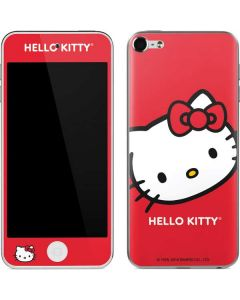 Hello Kitty Cropped Face Red Apple iPod Skin