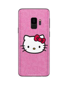Hello Kitty Face Pink Galaxy S9 Skin