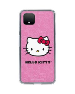 Hello Kitty Face Pink Google Pixel 4 Clear Case