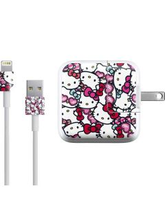 Hello Kitty Multiple Bows iPad Charger (10W USB) Skin
