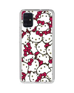 Hello Kitty Multiple Bows Pink Galaxy A51 Clear Case