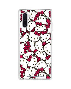 Hello Kitty Multiple Bows Pink Galaxy Note 10 Clear Case