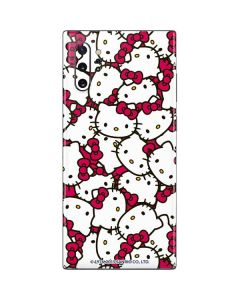Hello Kitty Multiple Bows Pink Galaxy Note 10 Plus Skin