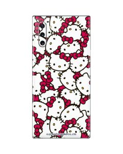 Hello Kitty Multiple Bows Pink Galaxy Note 10 Skin