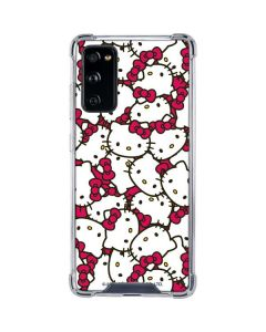 Hello Kitty Multiple Bows Pink Galaxy S20 FE Clear Case