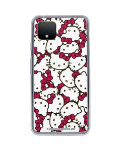 Hello Kitty Multiple Bows Pink Google Pixel 4 Clear Case
