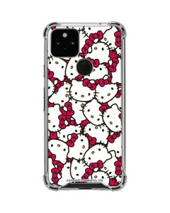 Hello Kitty Multiple Bows Pink Google Pixel 4a 5G Clear Case